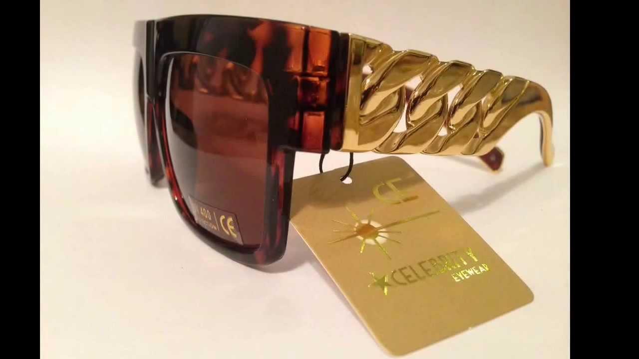 c4d77b851732 Cuban Gold Chain Link Sunglasses Celebrity Vintage - YouTube