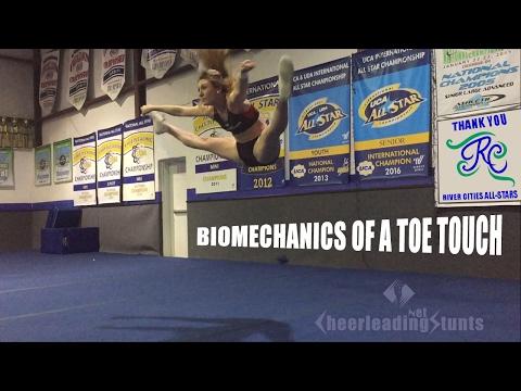 Biomechanics Behind a Cheerleader doing a Toe Touch