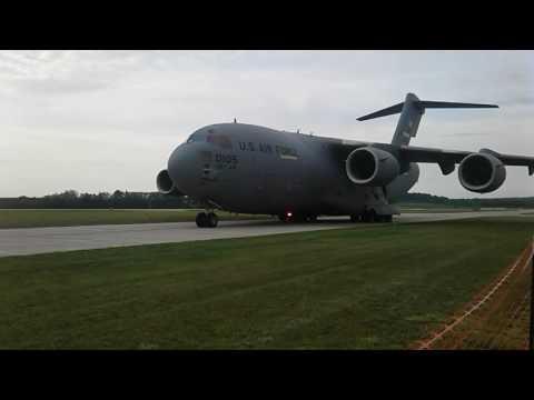 Dutchess county airport 6/4/2016 yea air force cargo plane
