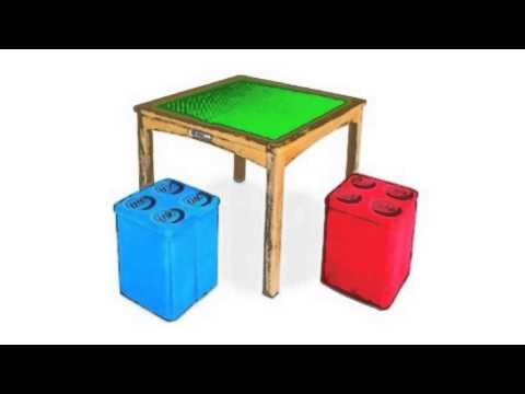 Imaginarium Activity Table With 2 Ottomans