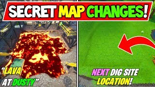 "*NEW* FORTNITE SECRET MAP CHANGES ""LAVA at DUSTY"" + ""NEXT DIG SITE LOCATION"" + Season 8 Storyline"
