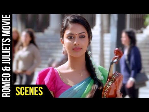 Romeo & Juliets Malayalam Movie Scenes | Allu Arjun Breaks Amala Paul's Fiddle | Catherine Tresa