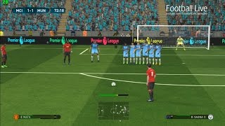PES 2017 | Manchester City vs Manchester United | Derby Match & Free Kick Goal | Gameplay PC