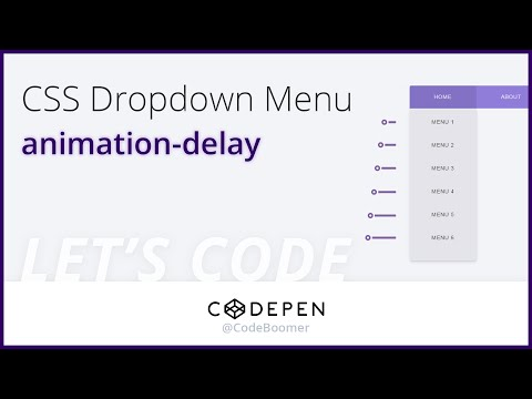 Let's Codepen: #1 CSS Animated Dropdown Menu - YouTube