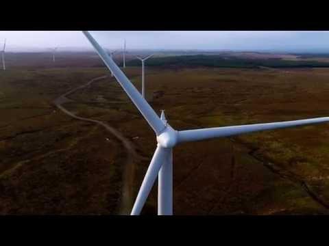 Aerial Video - Whitelee Wind Farm, Glasgow, Scotland