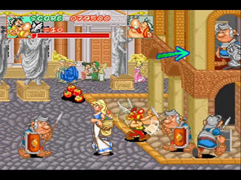 Asterix - ( Mame / Arcade ) - Full Playthrough - No Death