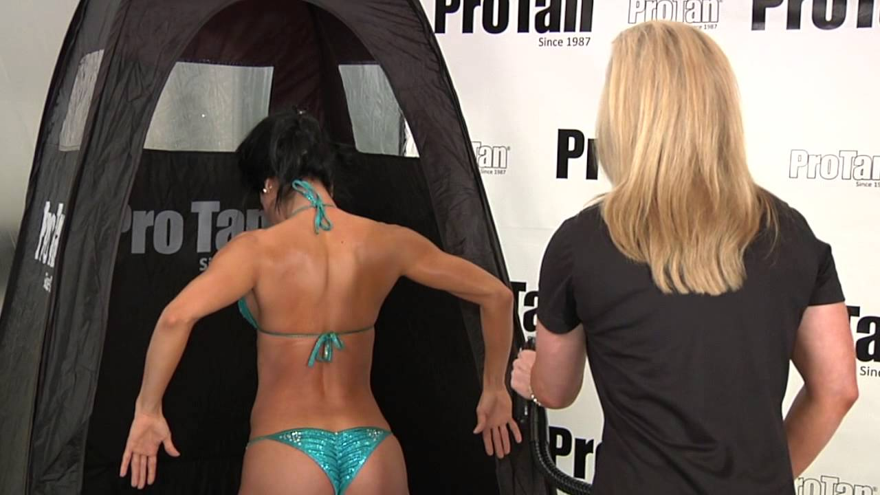 how to spray tan in a booth