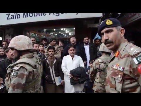 IG Frontier Corps Baluchistan Maj Gen Sherafghan talking to Traders & Shop keepers