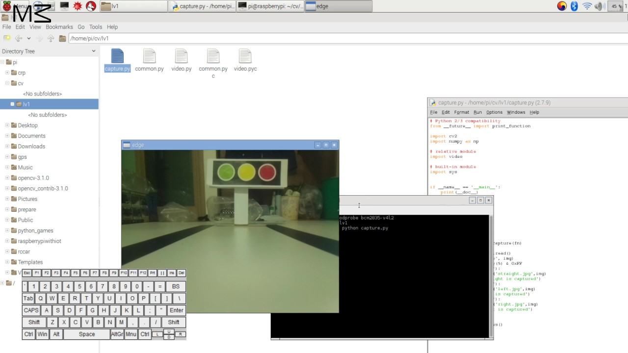 openCV with raspberry step #5 imwrite