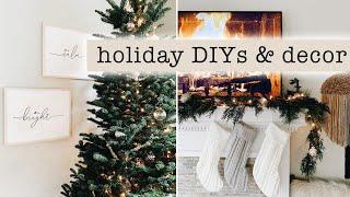 Holiday Diys & Decorating For Christmas // Decor Ideas   Tips 2019