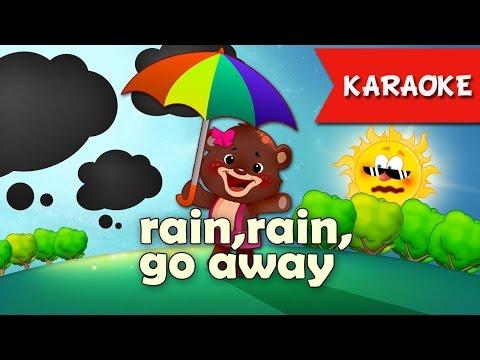 Rain Rain Go Away [Karaoke] | Kids Songs | Nursery Rhyme With Lyrics Instrumental Version