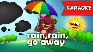 Rain rain go away [Karaoke] | Kids Songs | Nursery Rhyme With Lyrics Instrumental version