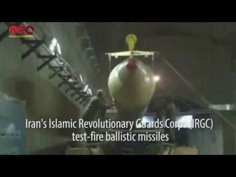 Iran's Islamic Revolutionary Guards Corps (IRGC) test-fired ballistic missiles