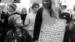 Early 1970s Women 39 S Liberation March London Uk Archive Footage