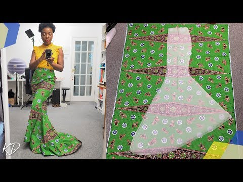 HOW TO SEW A FISHTAIL MAXI SKIRT | PATTERN & CONSTRUCTION | KIM DAVE