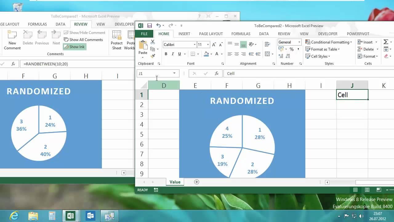 Excel 2013 - Tabellen vergleichen - Spreadsheet Compare - YouTube