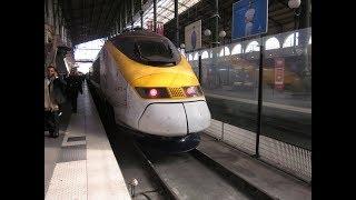 「ユーロスター9008列車」パリ行き。ロンドン・セント・パンクラス駅発車後車内放送と左側車窓