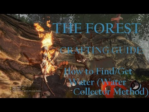 The Forest Tutorial Crafting Guide: How to Get Water (Water Collector Method)