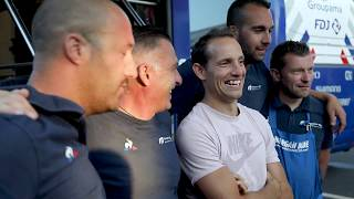 Tour de France 2019 - Visite de Renaud Lavillenie à l'hôtel