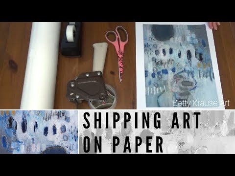 shipping small art on paper - tutorial thumbnail