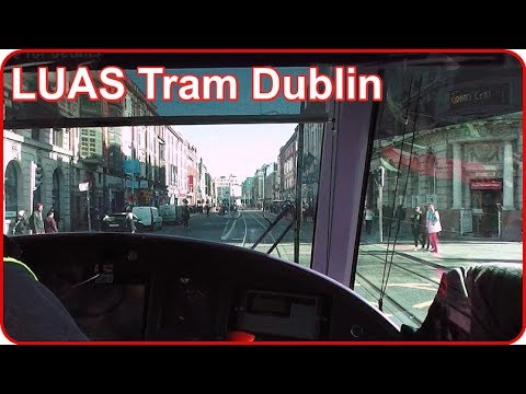 On Board a Luas Tram - O'Connell Street to Busaras, Dublin