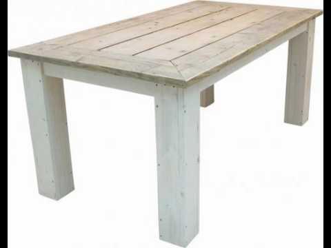 Houten tafel maken tafel van steigerhout check de for Steigerhouten tafel met steigerbuizen zelf maken