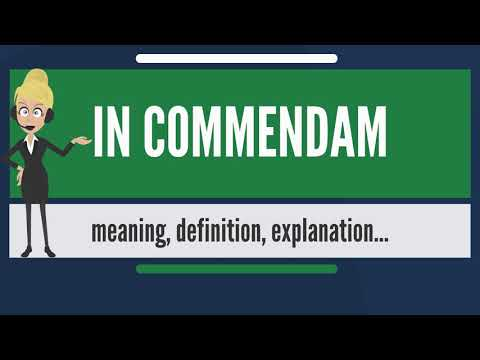 What is IN COMMENDAM? What does IN COMMENDAM mean? IN COMMENDAM meaning & explanation