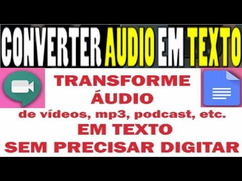 【Transcrição Áudio para Texto】Como Transformar Automaticamente Vídeo e Áudio em Texto | Renda Extra
