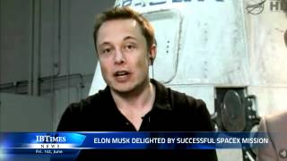 Elon Musk Delighted By Successful Spacex Mission