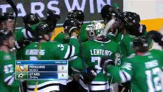 Penguins tie game late but Stars prevail in the shootout