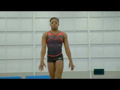 Simone Biles training