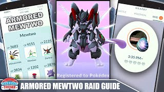 TOP *ARMORED MEWTWO* COUNTERS, 100 IV, MOVESET + RAID COUNTER GUIDE - PSYCHIC LEGENDARY | Pokémon Go