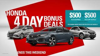 Hornsby Honda 4 Day Sale February 22nd-25th