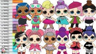 LOL Surprise Dolls Coloring Book Compilation Color Swap Kitty Queen Posh Merbaby Sleepy Bones