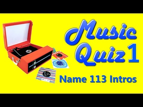 Music Quiz 1  Name 113 Song Intros  With Answers see description