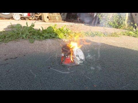 Ammonium Dichromate epic small long lasting volcano! make sure you have volcano insurance!