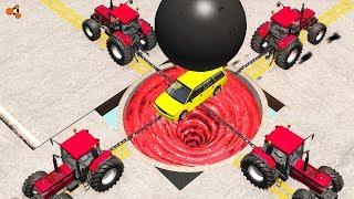 Beamng drive - Giant Chain vs. Giant Ball crashes #3