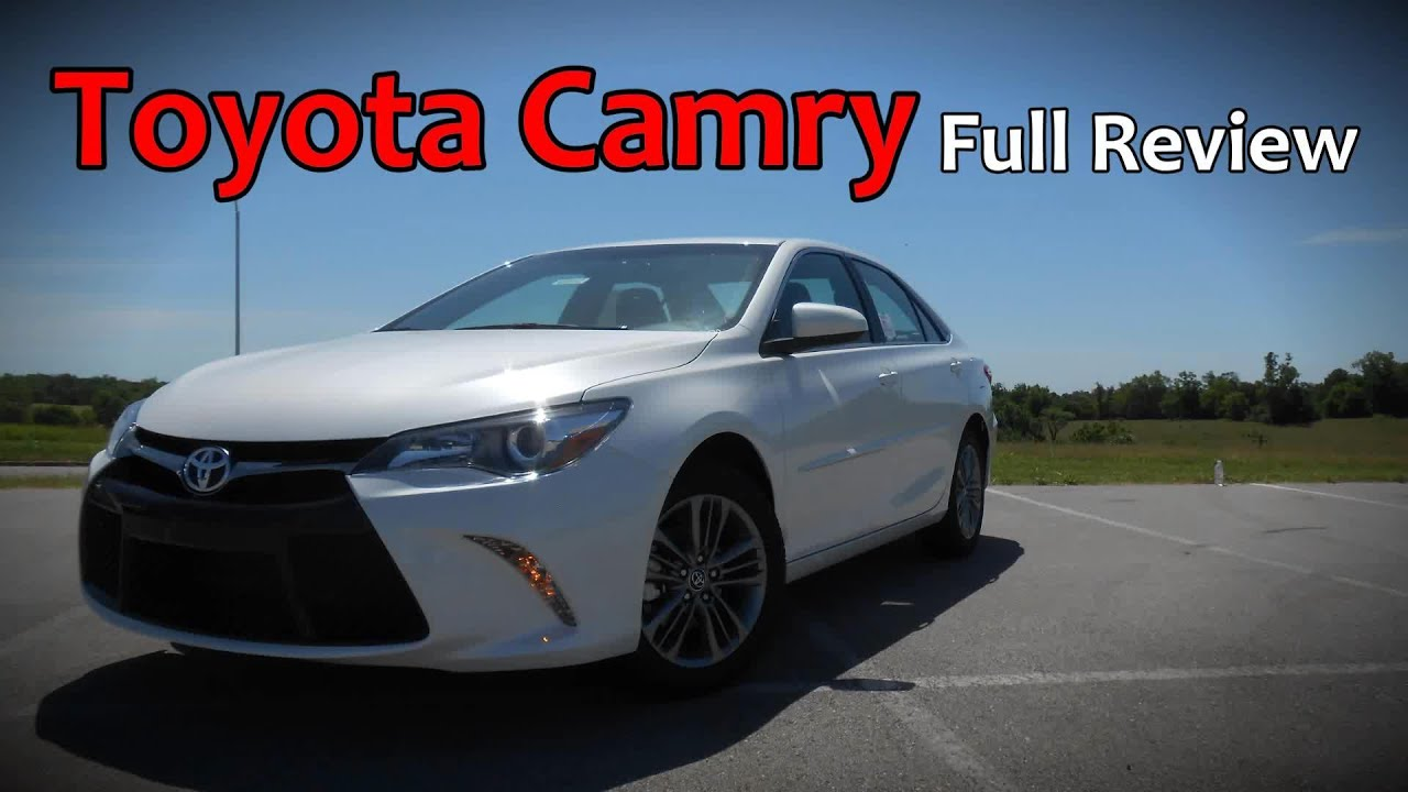 2017 toyota camry full review test drive le se xse xle hybrid youtube. Black Bedroom Furniture Sets. Home Design Ideas