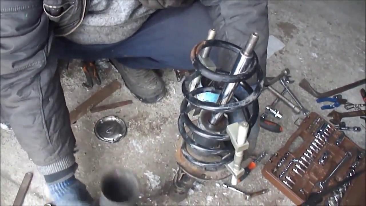 Замена пружины на шкоде фабия, замена передних пружин