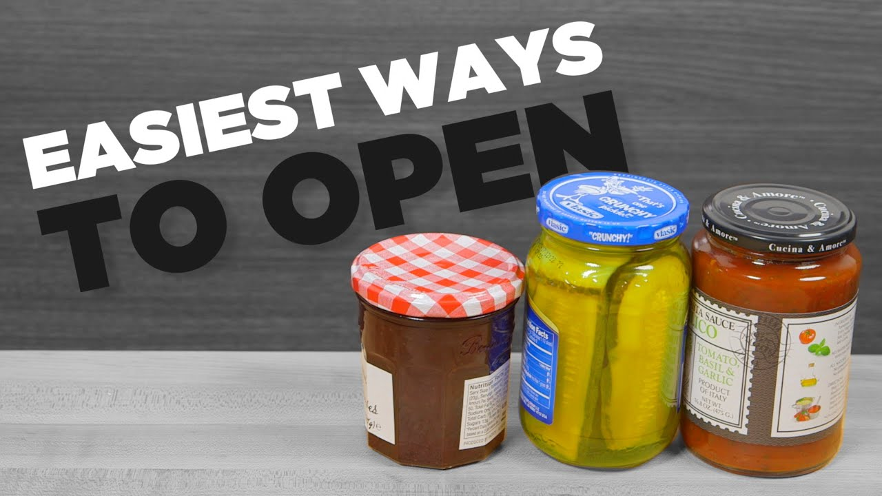 3 Easiest Ways To A Open Stubborn Jar Easy Life Hacks Youtube