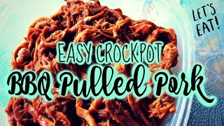 2 INGREDIENT BBQ PULLED PORK | EASY CROCK POT RECIPE!
