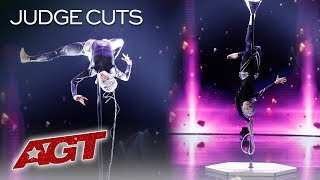 OMG! Marina Mazepa Will SHOCK You With These Extraterrestrial Moves - America's Got Talent 2019