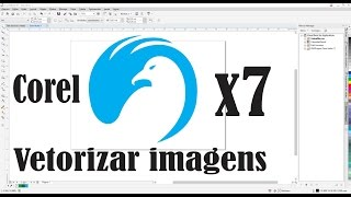 Aprenda como vetorizar imagens logomarca no corel draw x7