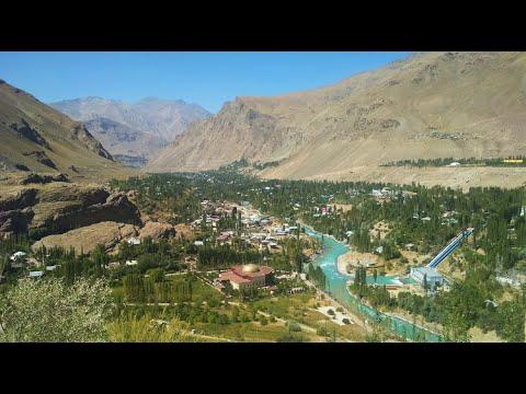 Памир.  Хорог с высоты.  Памирский ботанический сад