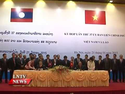 Lao NEWS on LNTV: Laos and Vietnam agree to provide more support to investors.26/1/2015