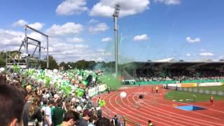 Werder Illertissen Einlaufen Werder Fans Stimmung DFB Pokal