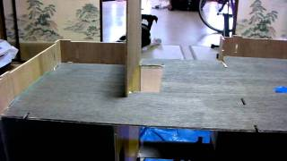 Greenleaf Dollhouse Build - Day 9: Installing The Floor And Staircase.