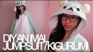 DIY: Animal Jumpsuit / Costume / Onesie / Kigurumi