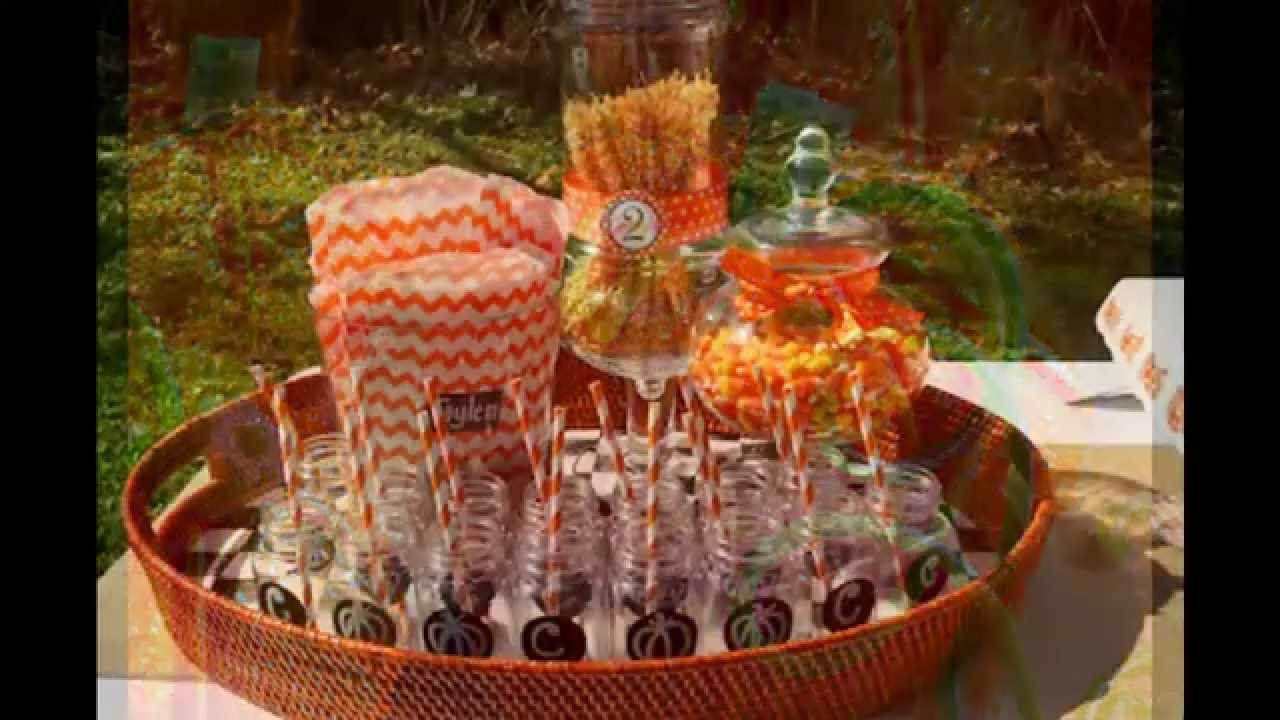 Fall festival party decorations at home ideas youtube for Autumn party decoration ideas