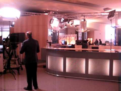 TV studio in European Parliament